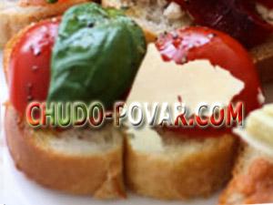 Бутерброды для праздничного стола с сыром и помидорами рецепт с фото