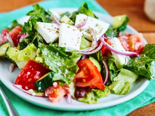 Греческий салат пошаговый рецепт с фото