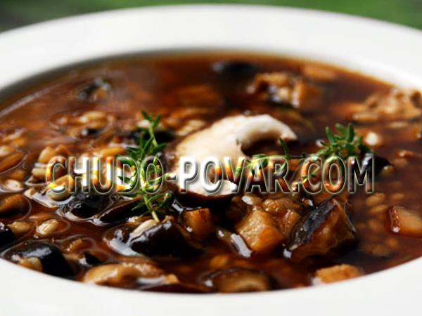 Грибной суп с сушёными грибами рецепт с фото