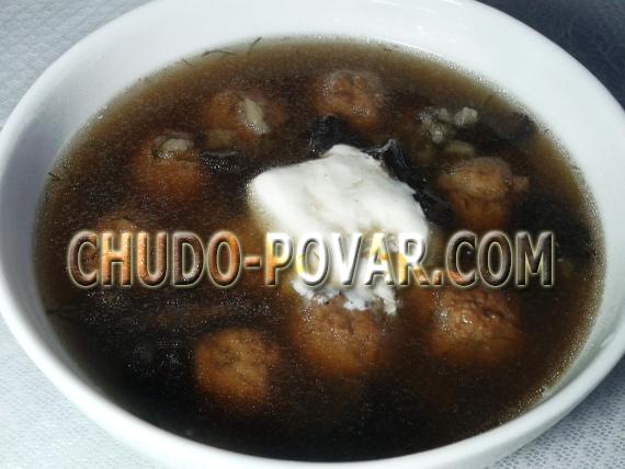 грибной суп с фрикадельками рецепт с фото
