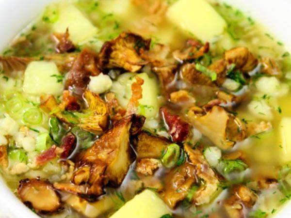 Грибной суп с лисичками - рецепт