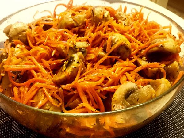 Грибы по корейски рецепт с фото