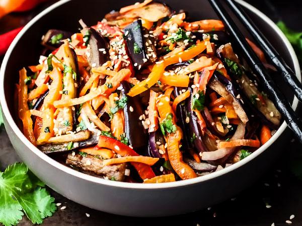 Баклажаны по-корейски пошаговый рецепт с фото