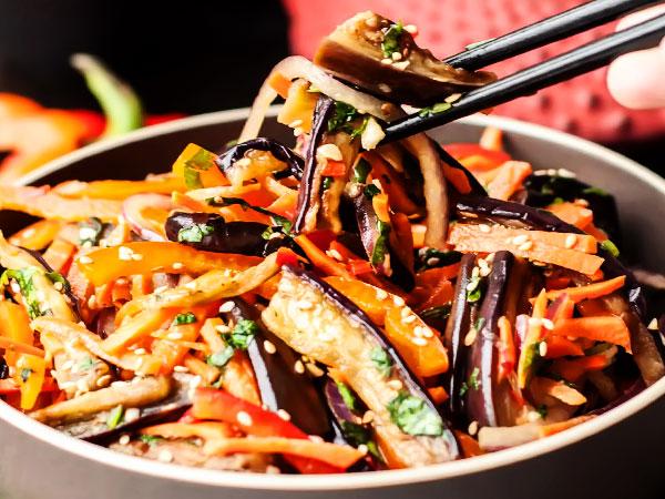 Баклажаны по-корейски быстрого приготовления вкусный пошаговый рецепт с фото