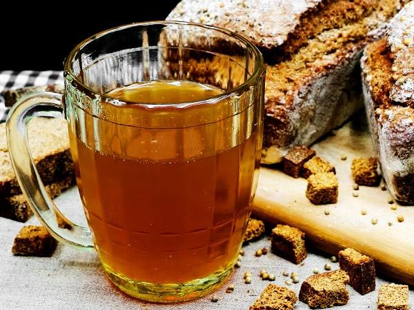 Хлебный квас из хлеба Бородинский в домашних условиях