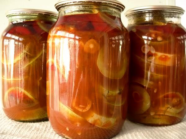 Кабачки в томатном соусе на зиму рецепт с фото