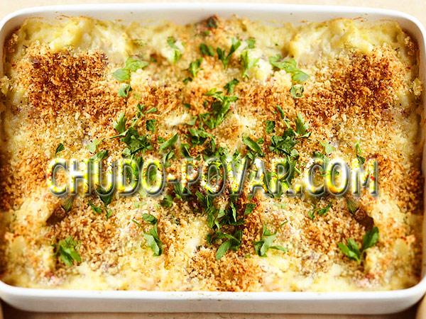 Картофельная запеканка с грибами рецепт с фото