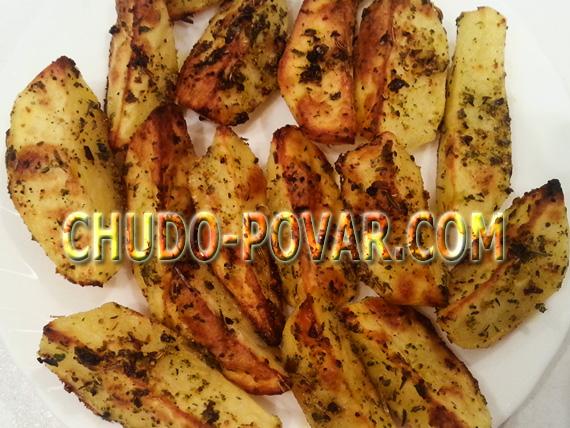 Картошка по-деревенски в духовке рецепт