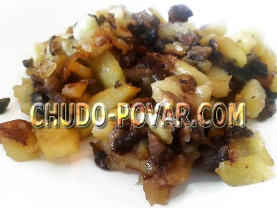 картошка с грибами рецепт с фото