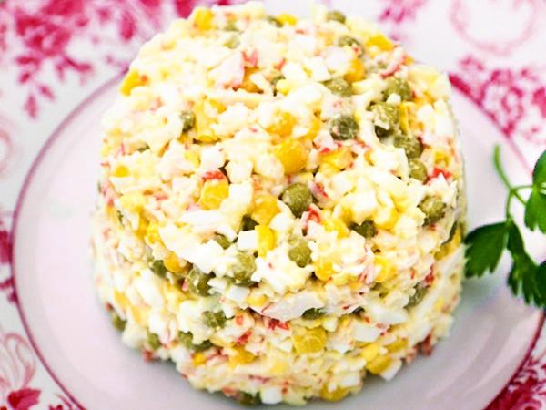 Классический крабовый салат рецепт с фото