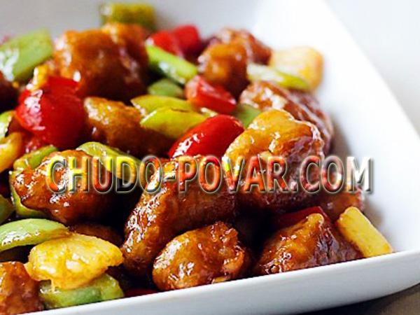 Куриная грудка в соевом соусе с ананасами – кулинарный рецепт