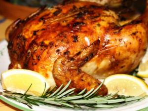 Цыплёнок в духовке целиком