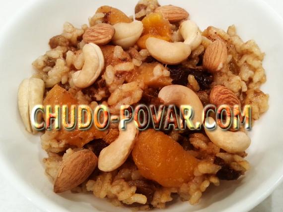 Кутья: рецепт из риса с изюмом и мёдом с фото