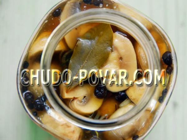 Маринованные грибы быстрого приготовления рецепт с фото