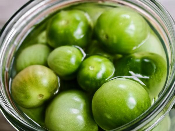 Маринованные зелёные помидоры на зиму ну очень вкусные на 1 литр