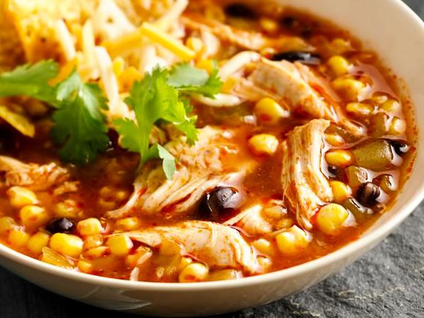 Мексиканский суп с курицей рецепт с фото