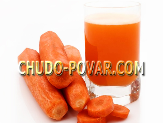 морковный сок рецепт с фото, польза