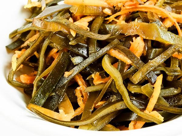 Морская капуста по-корейски с морковью