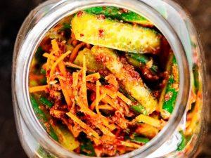Огурцы по-корейски на зиму: рецепт с фото