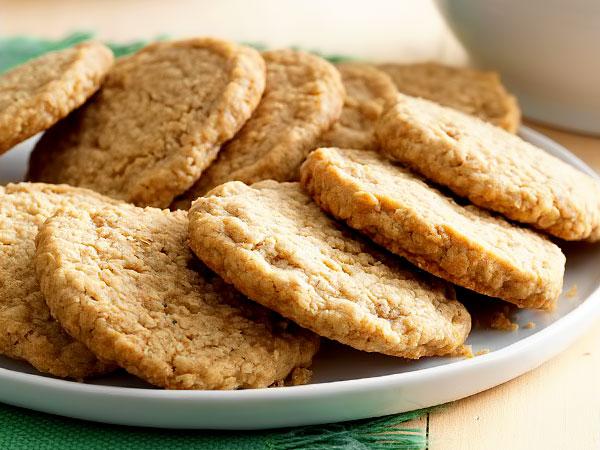 Овсяное печенье из хлопьев с мёдом