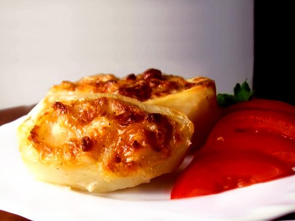 Запечённый фаршированный картофель с сыром рецепт с фото