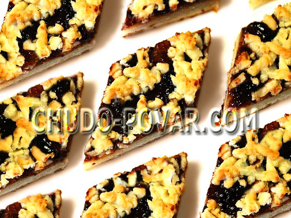 Пирог из песочного теста с вареньем рецепт с фото