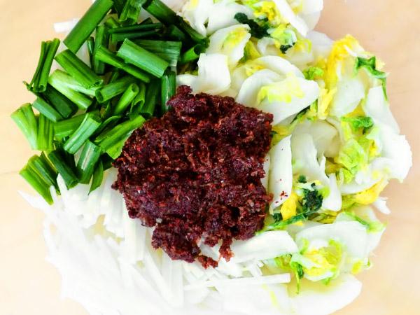 Ингредиенты для капусты кимчи