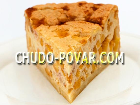 пирог с абрикосами рецепт с фото
