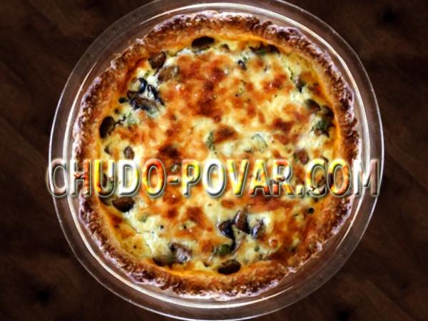 Пирог с грибами и картофелем рецепт