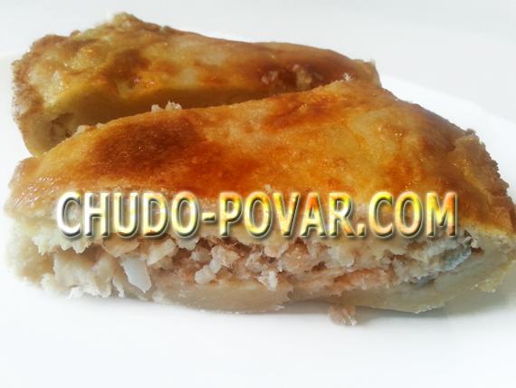 Слоёный пирог с рыбными консервами рецепт с фото