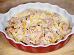 Рецепт лисички со сметаной