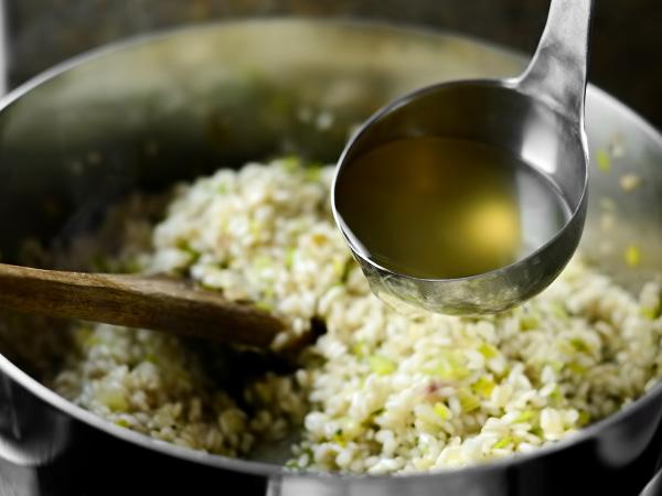 Рецепт ризотто с мясом и сыром и грибами