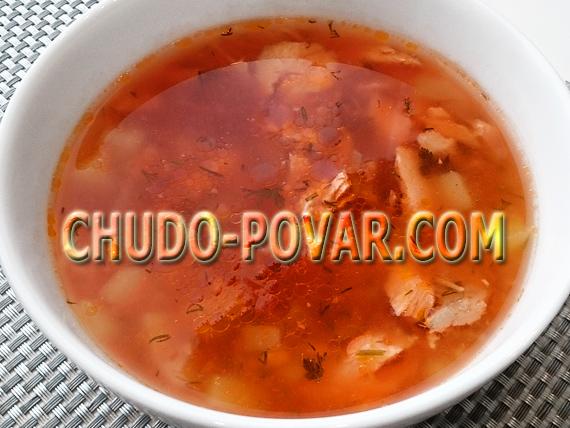 Рыбный суп из лосося рецепт с фото