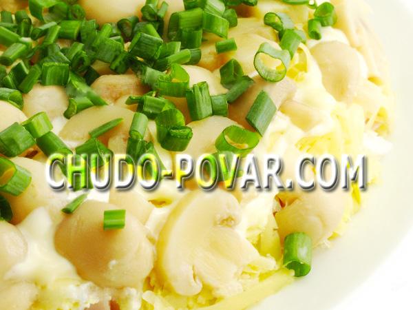 салат грибная поляна рецепт с фото