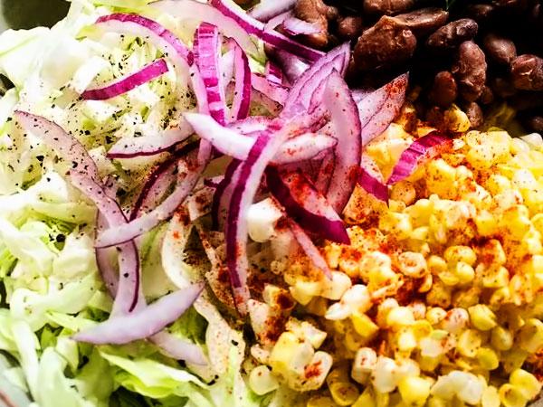 Постный салат с кукурузой рецепт с фото