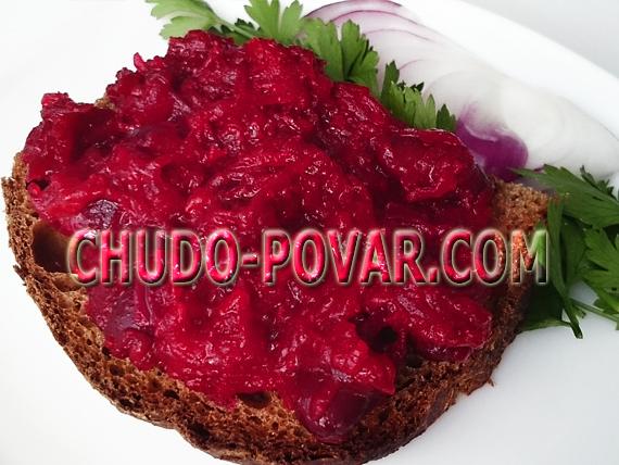 салат из свеклы на зиму рецепт с фото