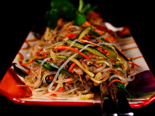 Фунчоза с овощами: рецепт с фото