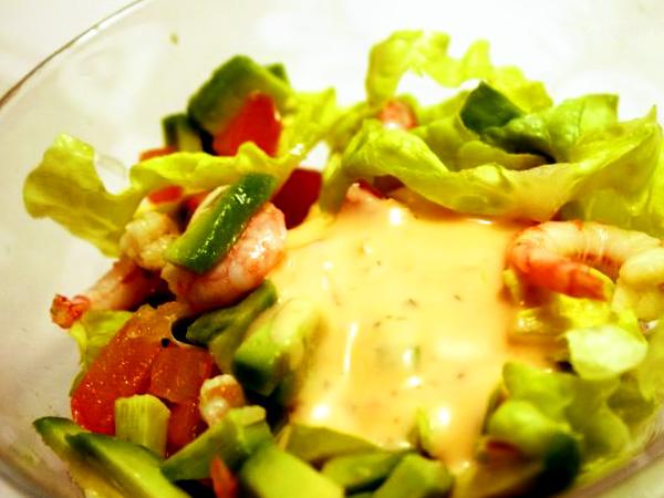 Салат с креветками и авокадо рецепт с фото