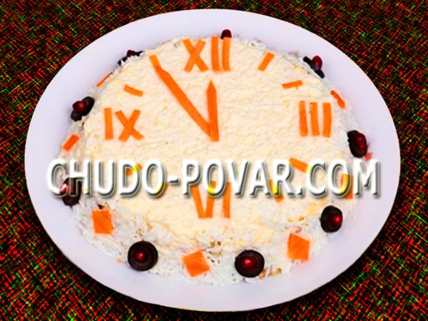 Салат с Новым годом рецепт с фото