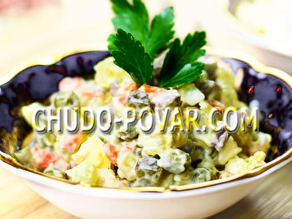 Оливье с сёмгой рецепт классический