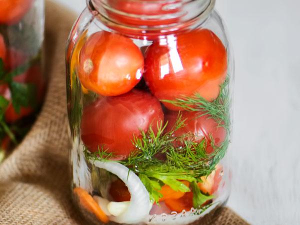 Маринад для помидор на 1 литр воды: сколько соли, сахара и уксуса