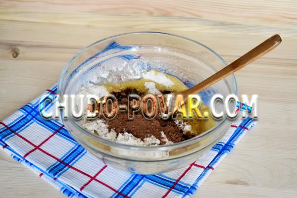 Шоколадное печенье с кусочками шоколада: рецепт