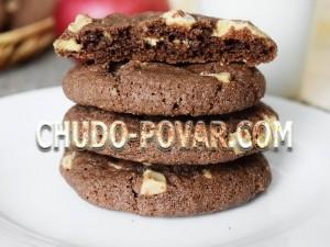 шоколадное печенье с белым шоколадом