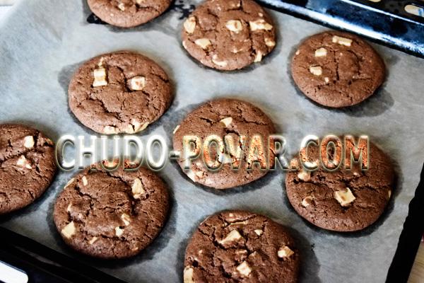 Американское шоколадное печенье с кусочками шоколада: рецепт
