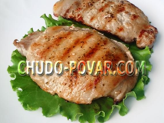 стейк из свинины рецепт с фото