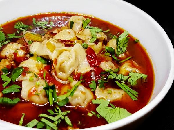 Овощной суп с пельменями по-узбекски