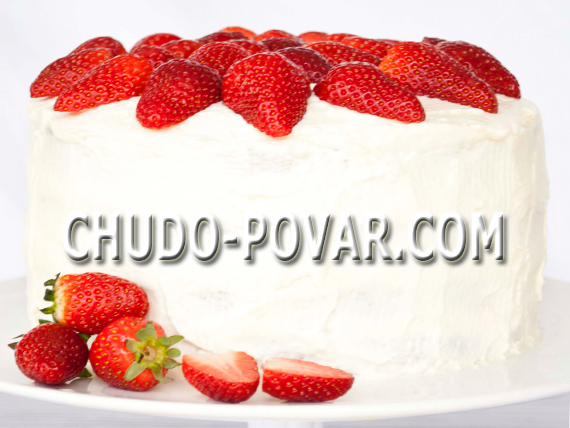 Торт с клубникой и сливками рецепт с фото
