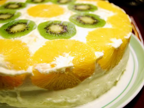 творожный торт с фруктами рецепт с фото