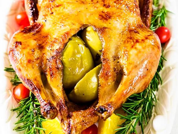утка с яблоками в духовке в фольге рецепт
