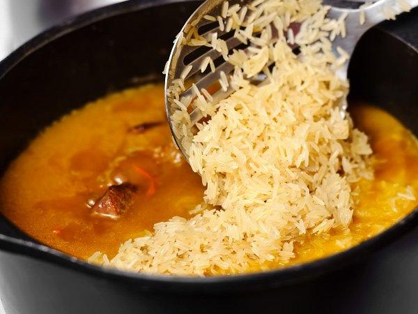 сколько нужно воды на стакан риса для плова
